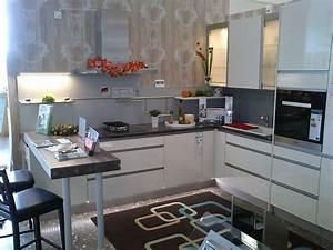 Küche Mit Granitarbeitsplatte : nobilia musterk che design k che hochglanz magnolia mit ~ Michelbontemps.com Haus und Dekorationen