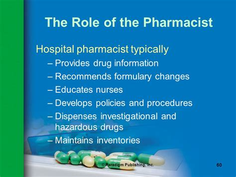 Pharmacist Responsibilities by Pharmacy Practice Fourth Edition The Profession Of