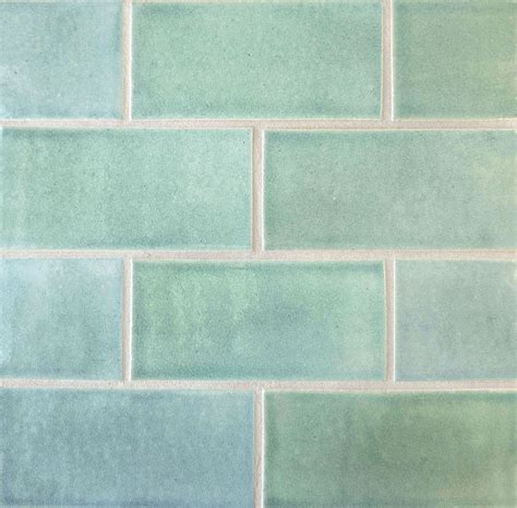 green and white tiles field subway tile