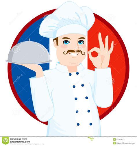 chef français with mustache de cuisine illustration de
