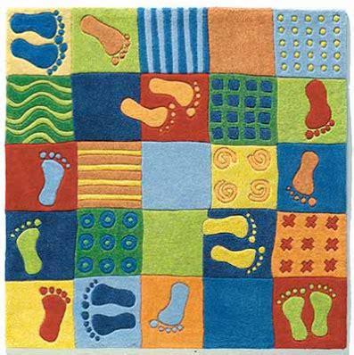 alfombra infantil huellas de haba alfombras para cuartos