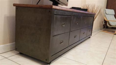 etagere angle cuisine banc télé de style industriel avec kallax bidouilles ikea