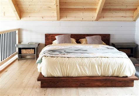 ana white rustic modern  platform bed diy projects