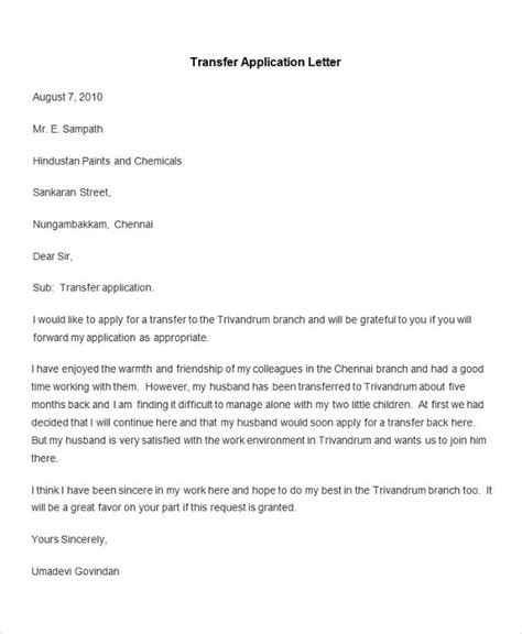 Application Format Letter by 95 Best Free Application Letter Templates Sles Pdf