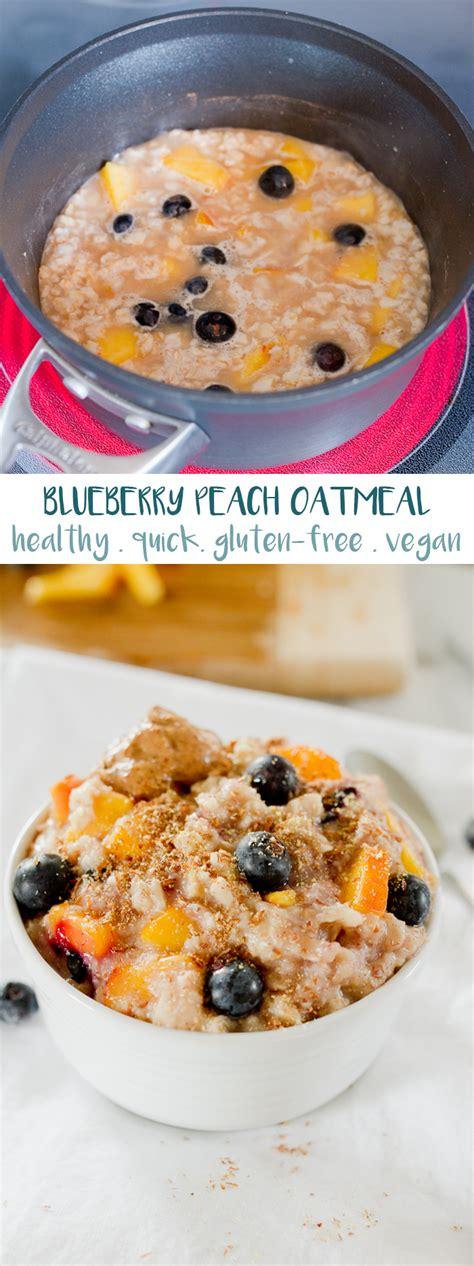 Blueberry Peach Oatmeal Recipe Eating Bird Food
