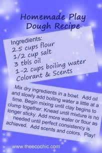 How Make Homemade Play Dough Recipes