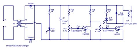 Three Phase Auto Changer Connection Diagram Elec Eng World