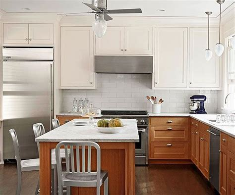 kitchen cabinets lower light combining wood base cabinets with white cabinets 9146