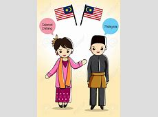 Country clipart malaysian person Pencil and in color