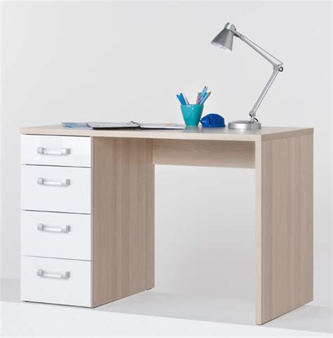 basika bureau bureau calisma frene clair blanc brillant