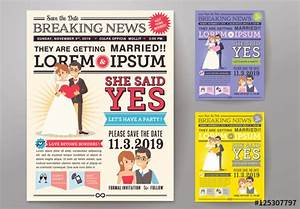 Adobe Indesign Newspaper Templates Free Stock Template Of Newspaper Journal Wedding Invitation