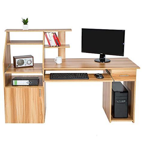 bureau avec ordinateur tectake bureau informatique table de l 39 ordinateur avec de