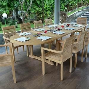 Table En Teck Jardin : table extensible ovale en teck ecograde florence 200 300 ~ Melissatoandfro.com Idées de Décoration