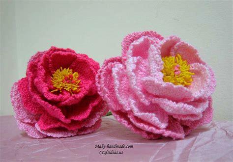 Crochet Peony Flowers For Beautiful Bouquet  Craft Ideas