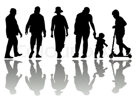 people black silhouettes   stock vector