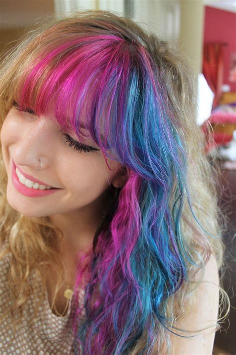 Pink And Blue Hair Colorful Hair Hair Hair Color Wig