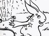 Coloring Rabbit Dribbble Sprinkler sketch template
