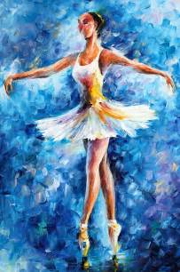 Curtain Dancers by Blue Dance Painting By Leonid Afremov