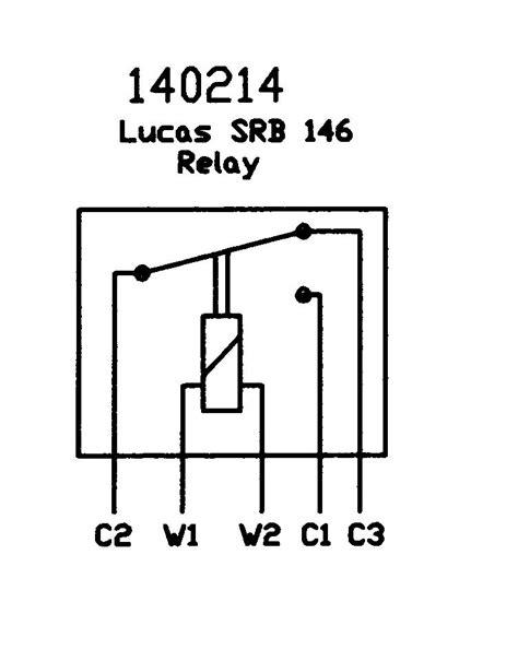 12v changeover relay wiring diagram lucas srb146 6ra 12v change relay