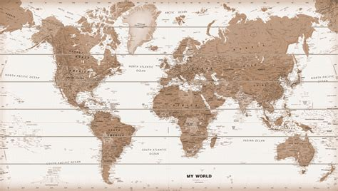 shabby chic home wooden world map sepia 100 free pins woodmap 1