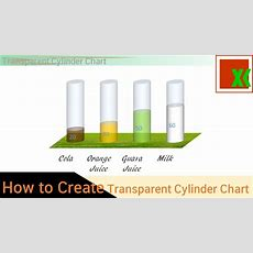 [thai] กราฟกระบอกน้ำใส  Transparent Cylinder Chart How To Create Youtube