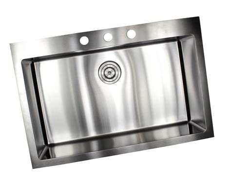 top mount stainless steel kitchen sinks 33 inch top mount drop in stainless steel single bowl 9488