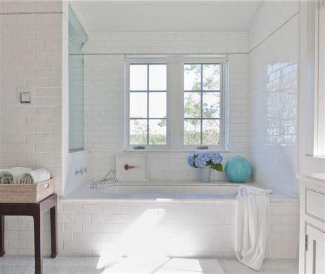 white subway tile bathroom ideas shingle cottage with neutral interiors