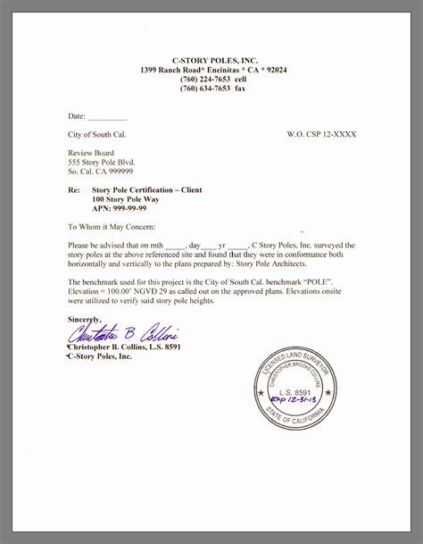 write  certified letter levelings