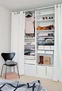 Offener Schrank Vorhang : ordnung im kleiderschrank 7 tipps f r den kleinen kleiderschrank ~ Markanthonyermac.com Haus und Dekorationen