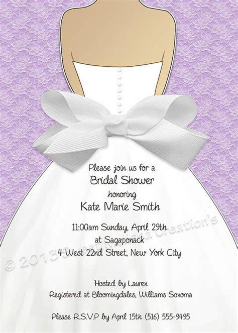 bridal shower invitation lace bow design multiple
