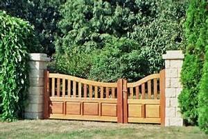 Portail Battant 5 Metres : portail battant bois navarre bc avec portillon ~ Nature-et-papiers.com Idées de Décoration
