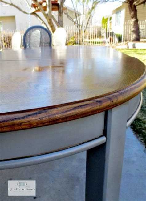 refinished table kitchen table makeover refinished