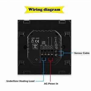 Programmable Central Heating Room Thermostat Touch Screen