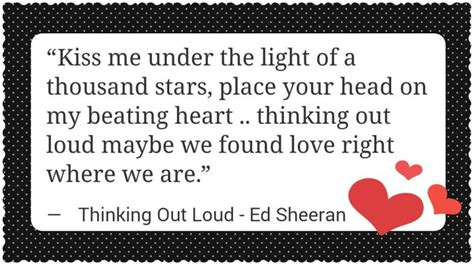 Thinking Out Loud By Ed Sheeran Quotes. Quotesgram