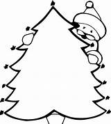 Coloring Christmas Pages Tree Children Xmas sketch template