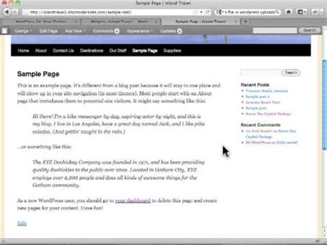 Wordpress Tutorial managing widgets  wordpress posts wordpress tutorials 480 x 360 · jpeg