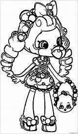 Shopkins Pages Coloring Print sketch template