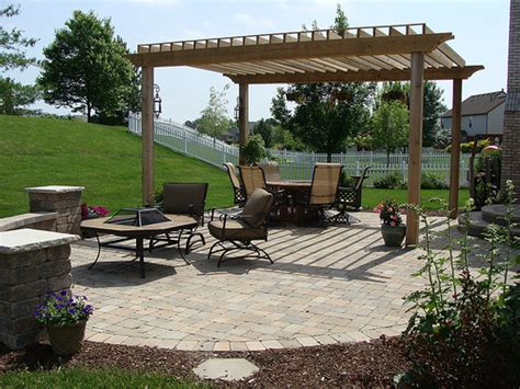 paver patio with pergola flickr photo