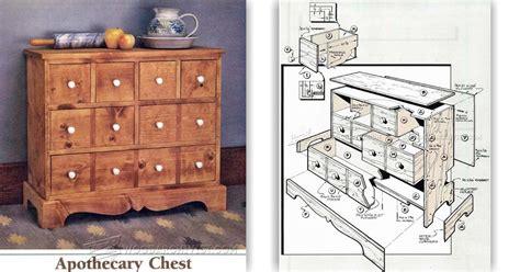 apothecary chest plans woodarchivist