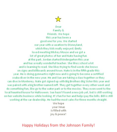 how to create a christmas letter in the shape of a christmas tree