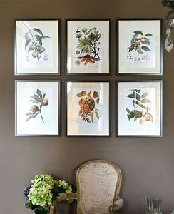 Botanical prints sprinkled around the house
