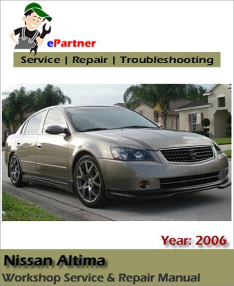 free online car repair manuals download 2006 nissan murano user handbook nissan altima l31 service repair manual 2006 automotive service repair manual