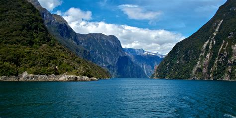 Looking Back Into The Sound Milford Sound New Zealand