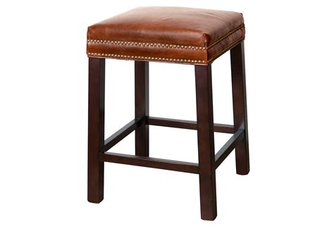leather saddle bar stools belmont leather stool saddle brown bar from one kings lane my