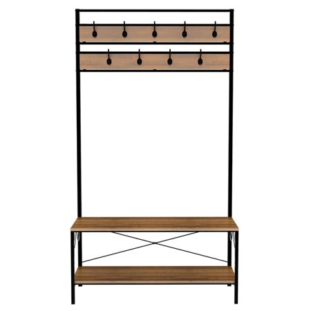 Entryway Bench With Shoe Storage And Coat Rack by Entryway Shoe Bench With Coat Rack Hooks Tree Storage