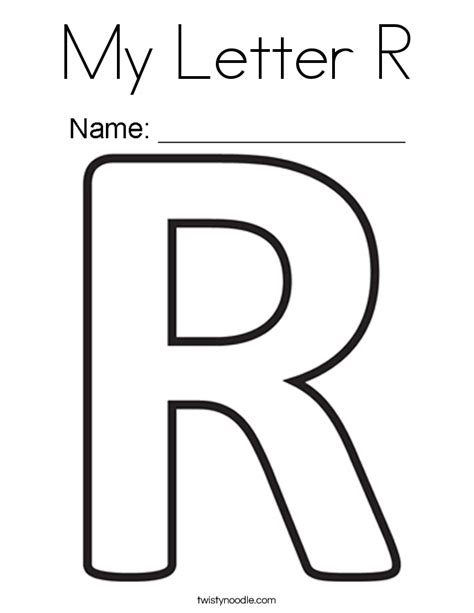 r in letters letter r coloring pages printable murderthestout 24185