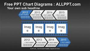 Arrow Film Timeline Ppt Diagrams   Download Free
