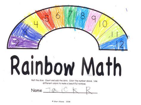 rainbow math worksheets for preschoolers kidscount1234 com shari sloane educational consultant