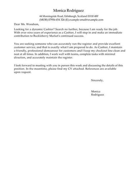 cover letter templates exles