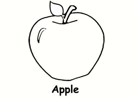 printable apple coloring pages  kids coloring